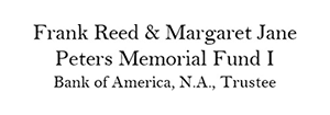 Frank Reed & Margaret Jane Peters Memorial Fund